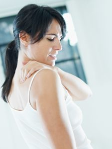Shoulder pain treatment is needed when you suffer from shoulder pain as shown here